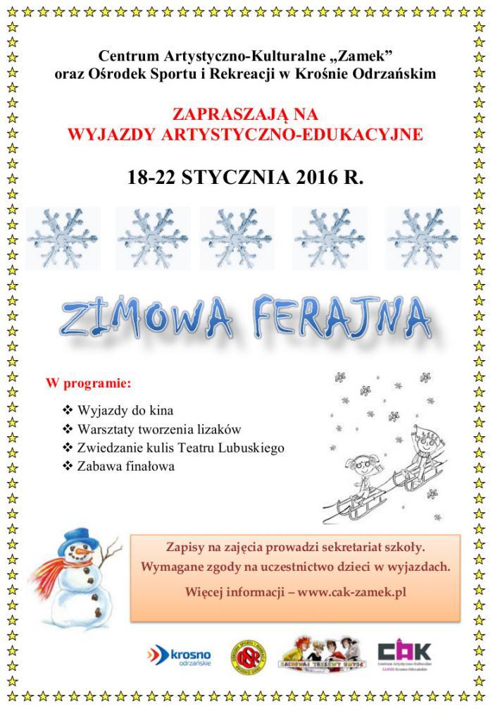plakat ogolny zimowej ferajny