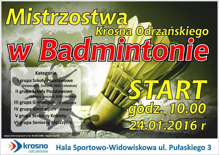 badminton plakat