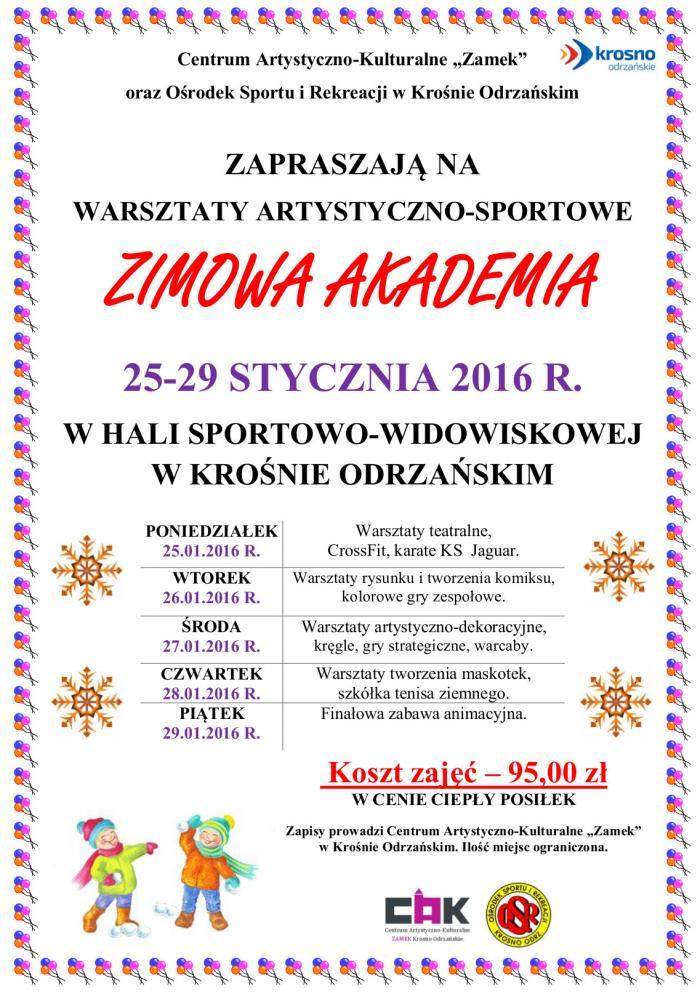 plakat zimowa akademia